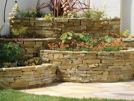 Gold Brown Quartz Garden Walling