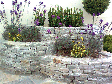 Grey Quartz Garden Walling