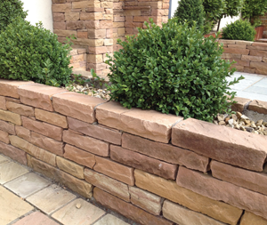 Indian Goldleaf Sandstone Walling