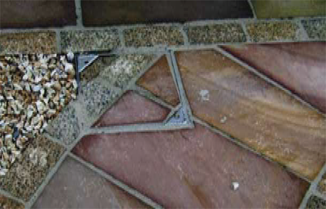 Recessed Manhole Cover Used Within a Landscape Project