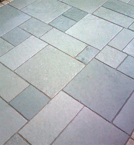 antique vintage tandoor blue limestone paving
