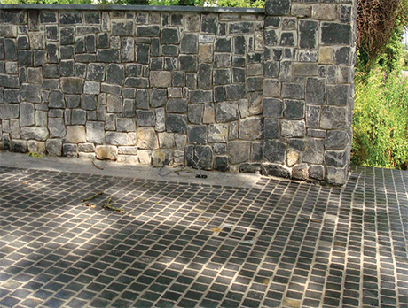 black limestone cobble