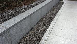 black granite cobbles