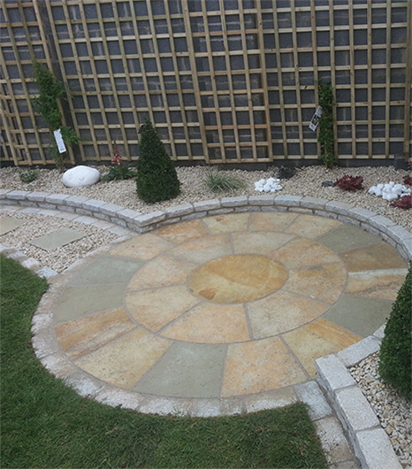 yellow limestone circle