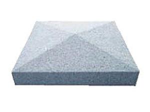 Silver Grey Granite Apex Style Pier Cap