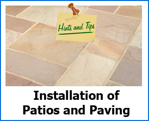 Tips for installing patios