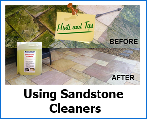 Tips for cleaning sandstone patio