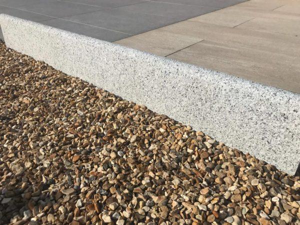 Silver Grey Granite Bullnosed Edging Kerbs 50x18x4cm