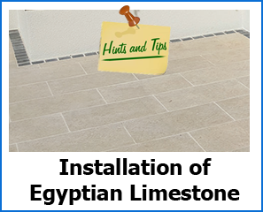 installation of egyptian limestone