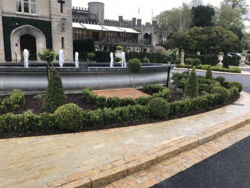 Cabra Castle Project Vintage Tandur Yellow limestone Cobbles  Vietnsamese Gold Granite Kerb  Cobbles