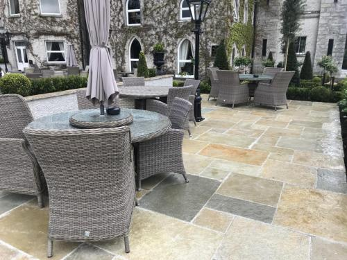 Cabra Castle ProjectVintage Tandur Yellow Limestone Paving for the Patio area