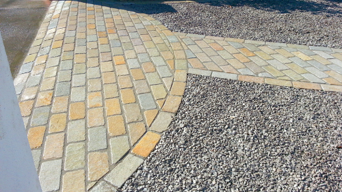 Vintage Tandoor Yellow Limestone Cobble 20x10x5cm  Used For Entrace into Driveway