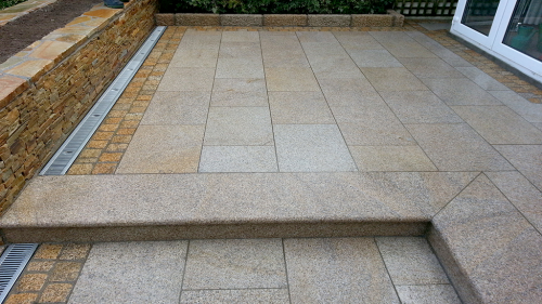 Gold Granite Paving Used By Flynn Landscapes