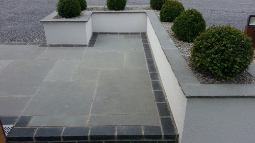 Kota Blue Limestone Job By Flynn Landscapes