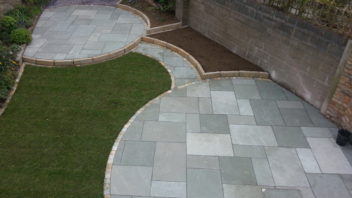 Kota Blue Limestone used by Flynn Landscapes