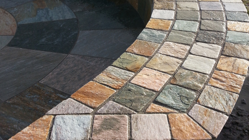 Our Asian Quartz Cobble 10x10 Used By Flynn Landscapes