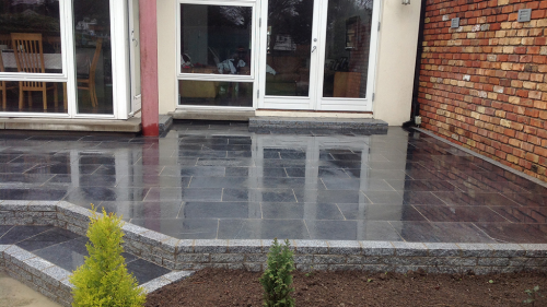 Saigon Blue Limestone Used By Genius Garden Improvement