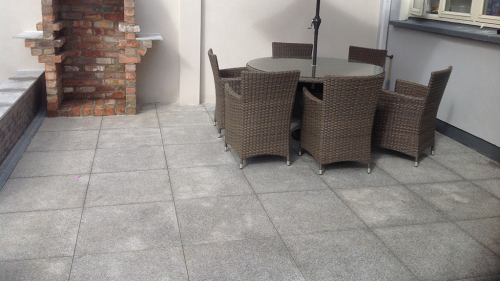 Silver Granite Paving Used By Genius Garden Improvement