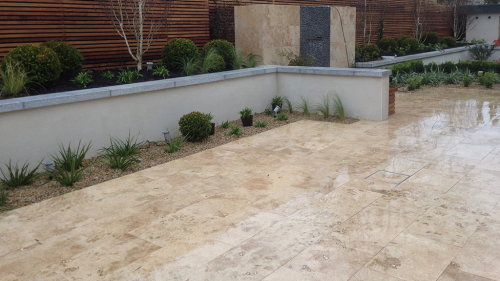 Travertine Used By Ashbrook Landscapes