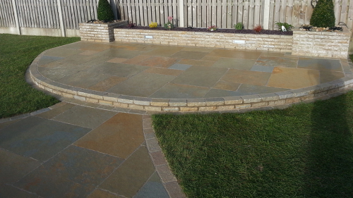 Yellow Limestone Paving Used By Flynn Landscapes