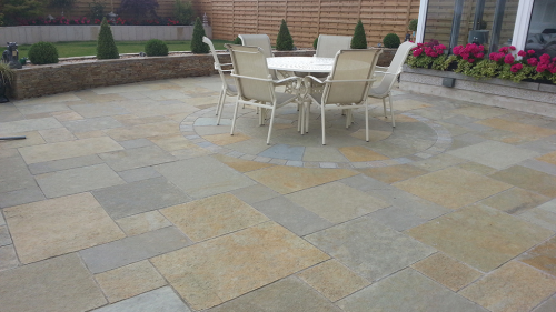 Yellow Limestone Used By Flynn Landscapes