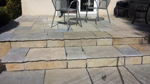 Mint Sahara Sandstone Used On Step
