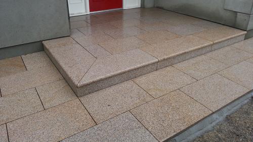 Gold Granite Steps & Risers.