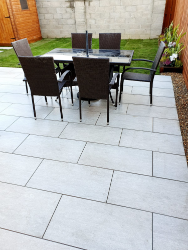 Vals Silver 40x80x2cm Porcelain Installed By Agora Lucan 4